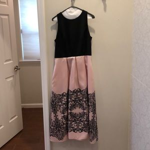 Pretty pink prom or formal dress with glitter!